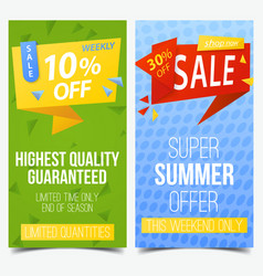Labels or tags signs or vouchers for discount vector
