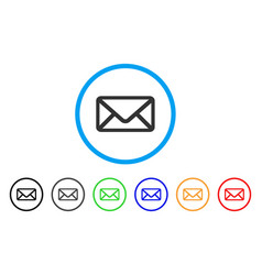 letter rounded icon vector image