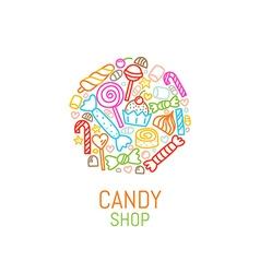 Logo template candy shop vector