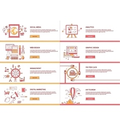 Management Digital Marketing Analytic Social Media vector image