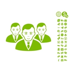 Manager Group Icon With Free Bonus vector