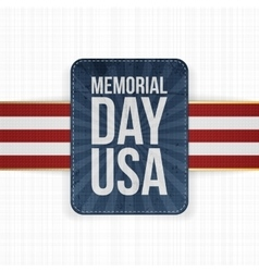 Memorial Day USA realistic Sign with Text vector