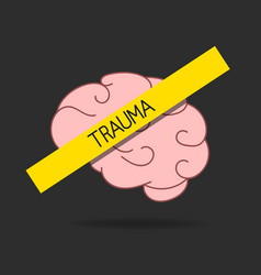 Mental disorder icon brain disease trauma vector
