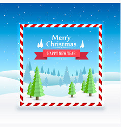 merry christmas cover art happy new year vector image