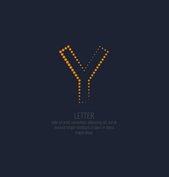 modern dotted letter y of the latin alphabet vector image
