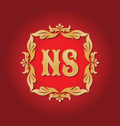 Monogram ns letters - concept logo template design vector