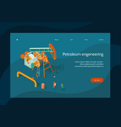Oil industry page design vector