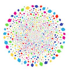 Opium poppy decoration spheric cluster vector