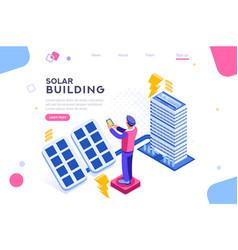 panels electric economy house vector image