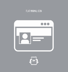 private account window - flat minimal icon vector image