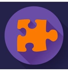 Puzzle icon Flat design style vector image
