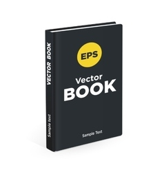 Realistic black book on the white background vector image