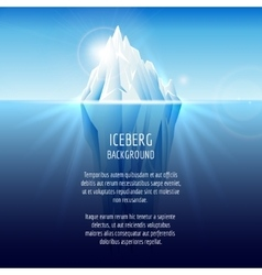 Realistic iceberg on water vector image