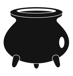retro cauldron icon simple style vector image