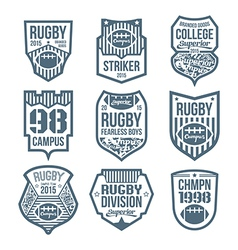 rugby emblems vector image