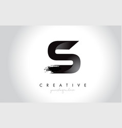 s letter design with brush stroke and modern 3d vector image