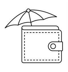 safe wallet icon outline style vector image
