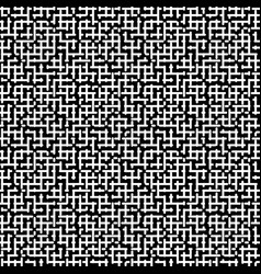 seamless pattern black white maze vector image