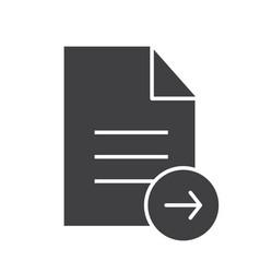 Send document glyph icon vector
