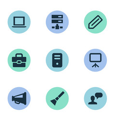 Set of simple ui icons vector