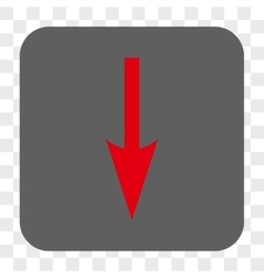 Sharp Arrow Down Rounded Square Button vector