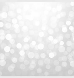 silver glitter bokeh vector image