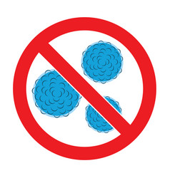 Stop bacteria icon vector