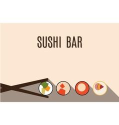 sushi bar vector image
