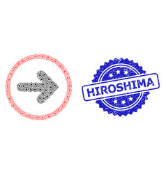 Textured hiroshima stamp and recursion right vector