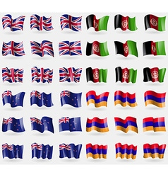 United kingdom afghanistan new zeland armenia set vector