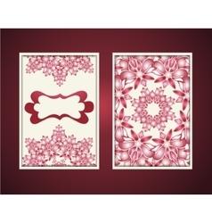 vintage cover blank set Floral mandala vector image