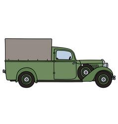 vintage delivery car vector image