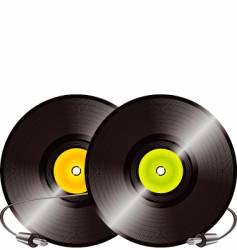 Vinyl records and jacks vector