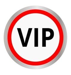 Vip circular icon vector