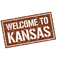 welcome to kansas stamp vector image