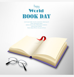 world book day in april on white background vector image