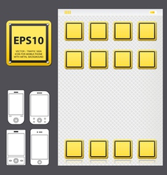 yellowicon for mobile vector image vector image