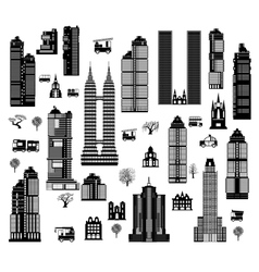 City mix vector image vector image