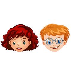 human head for boyy and girl vector image vector image