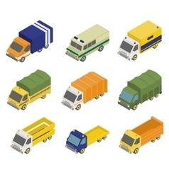 Isometric Public City Transport vector image