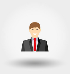 Man in business suit icon vector