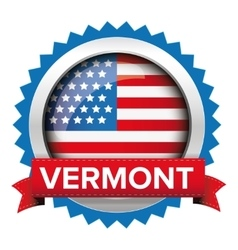 Vermont and USA flag badge vector image