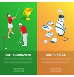 Vertical Golf Club banners with golf tournament vector image vector image
