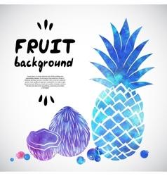 Watercolor fruit vector image vector image