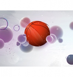 basketball with the abstract vector image vector image