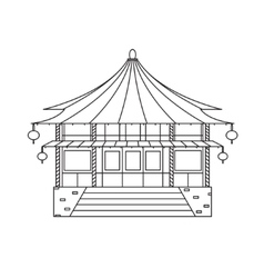 Chinese Buddhist Temple Monastery Building vector image