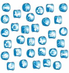 high-gloss eco buttons vector image