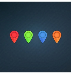 Map pointers vector image