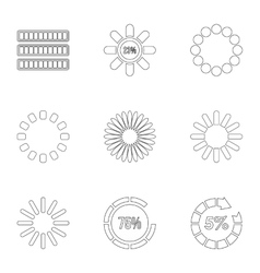 Sign download icons set outline style vector image vector image