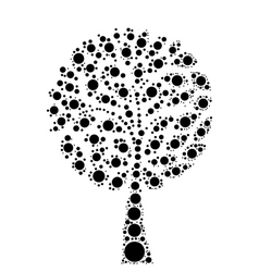 Tree mosaic of dots vector image
